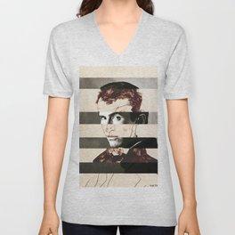 Egon Schiele's Self Portrait & Anthony Perkins Unisex V-Neck