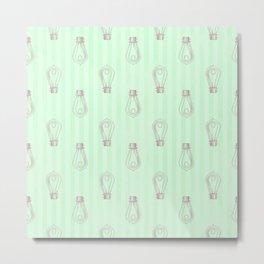 Vintage Light Bulbs Neck Gator Green Stripe Light Bulb Metal Print