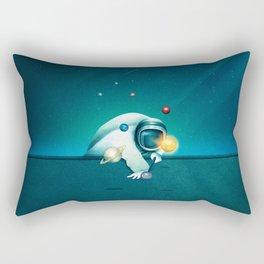 Astronaut Billards Rectangular Pillow