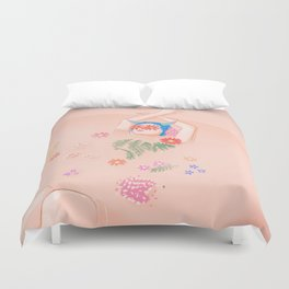 Flower Bath Duvet Cover