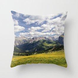 Panorama Gruppo di Sella Throw Pillow