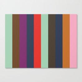 ASPIRATION : Aquamarine, Sepia, Purple, Indigo, Red, Aquamarine, Taupe, Indigo, Ochre,Nadeshiko Pink Canvas Print