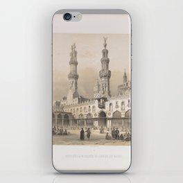 Court of the Mosque el Ahzar, Kaire ,1843 iPhone Skin