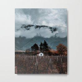 Small White Cottage Metal Print