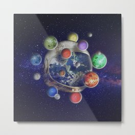 Orbiting Metal Print