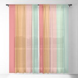 Vintage Rainbow Sheer Curtain