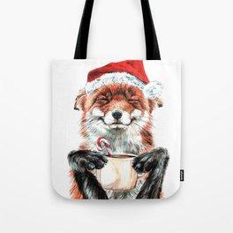 Morning Fox Christmas Tote Bag