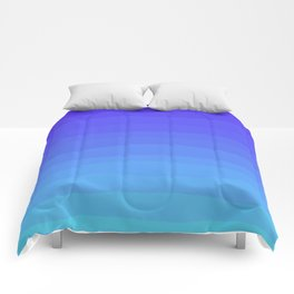 Cobalt Light Blue gradient Comforters