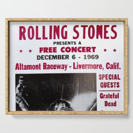 Vintage Rolling Stones free concert at Altamont Raceway, Livermore, California, December 6, 1969 Serving Tray