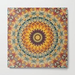 Flower Of Life Mandala (Sun-kissed) Metal Print