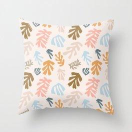 Seaweeds and sand Throw Pillow
