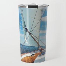 Sweet Sailing - Sailboat on the Chesapeake Bay in Annapolis, Maryland Travel Mug