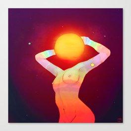 Sun Head Leinwanddruck