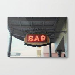 New Orleans Bar Sign Metal Print