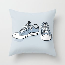 Grey Sneakers Throw Pillow