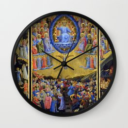 "Fra Angelico (Guido di Pietro) ""The Last Judgement (Winged Altar)"" Wall Clock"
