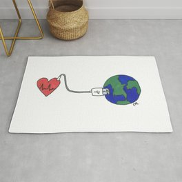World and Love Rug