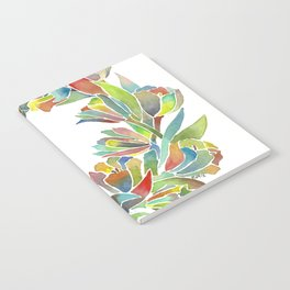 Colorful Floral Wreath Notebook