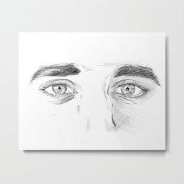 I see you - Eyes sketch Metal Print