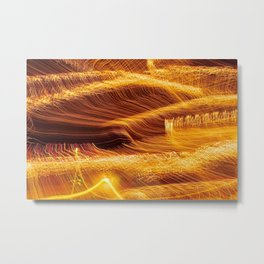Abstract Burning Down The House Metal Print