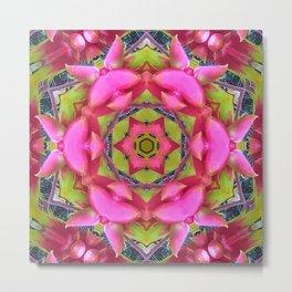 Pink Flower Mandala Metal Print