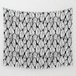 Vagina - Rama, White and Black Wall Tapestry