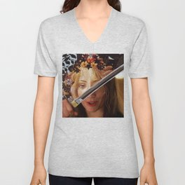 Kill Bill's Elle Driver & Botticelli's Flora Unisex V-Neck
