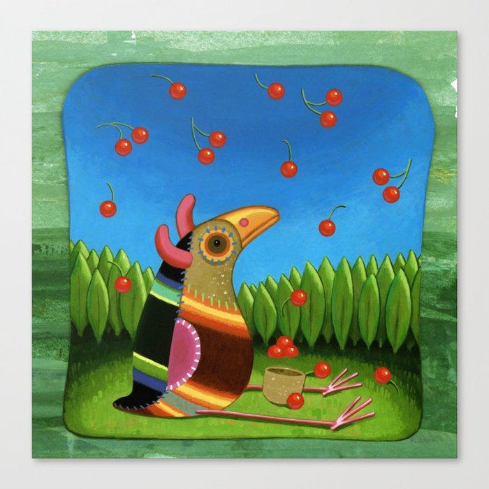 cherry rain Canvas Print