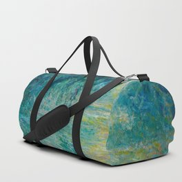 Claude Monet Morning on the Seine Oil Paintng Duffle Bag