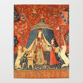Lady and The Unicorn Medieval Tapestry Poster