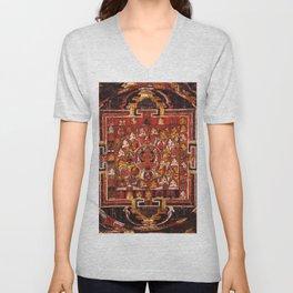 Mandala Buddhist Hindu 29 Unisex V-Neck