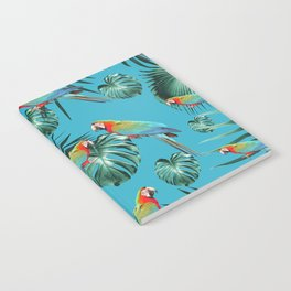 Parrots in the Tropical Jungle #1 #tropical #decor #art #society6 Notebook