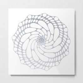 fracta  PI Flower silver Metal Print