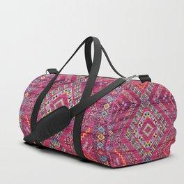 N118 - Pink Colored Oriental Traditional Bohemian Moroccan Artwork. Duffle Bag