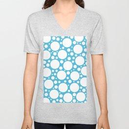 Blue with Polka Dots Unisex V-Neck