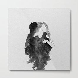 You are my peaceful heaven b&w. Metal Print