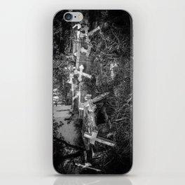 Derelict Crosses iPhone Skin
