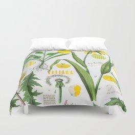 Botanical Series: Yellow Dandelion Duvet Cover