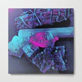 Gem Stones & Sage Metal Print