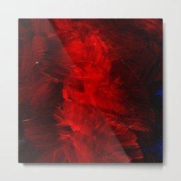 Red Abstract Paint | Corbin Henry Artist Metal Print