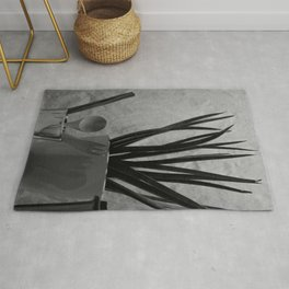 Agave, Spoon tea & Fork in Cup, A Rug