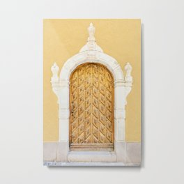 Stockholm Door, Travel Photography Metal Print