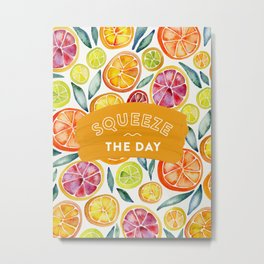 Squeeze the Day – Multi Palette Metal Print