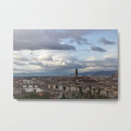 Arno and Ponte Vecchio in Florence Italy Metal Print