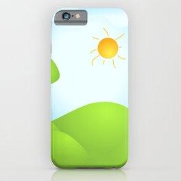 Kids Spring Background - 01 iPhone Case