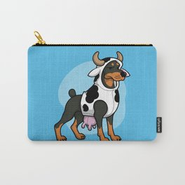 Doberman in a Cow Costume Carry-All Pouch