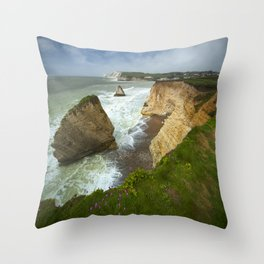 Isle Of Wight Seascape Throw Pillow