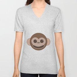 Happy Monkey Unisex V-Neck
