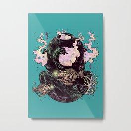 Dive or Die Metal Print