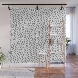 Gray Dalmatian Spots (gray/white) Wall Mural